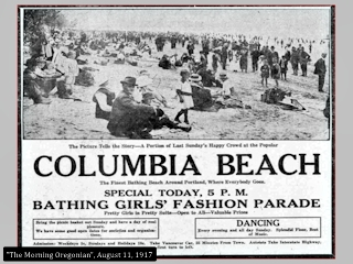 Image, Columbia Beach, Portland, Morning Oregonian, August 11, 1917, click to enlarge
