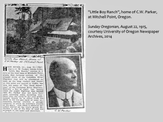 Newspaper Image, Sunday Oregonian, August 22, 1915, click to enlarge