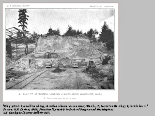 Image, 1909, Russell Landing Clay Pit, Washington, click to enlarge