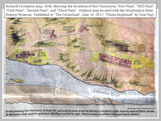 Image, 1846, Covington Map, Fort Vancouver, Washington, click to enlarge