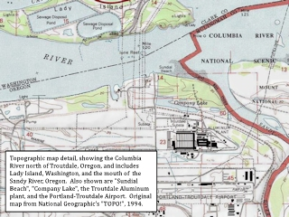 Topo map detail, 1994, Troutdale, Oregon, click to enlarge