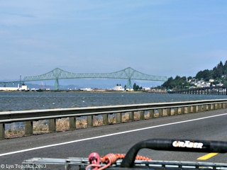 Image, 2003, Astoria, Oregon, and the Astoria-Megler Bridge, from U.S. Highway 101, click to enlarge