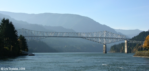 Image, 2004, Bridge of the Gods, as seen from Cascade Locks, click to enlarge