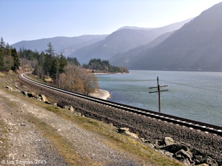 Image, 2005, Collins Point as seen from Washington State Highway 14, click to enlarge