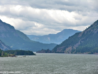 Image, 2005, Columbia River Gorge from Mitchell Point, click to enlarge