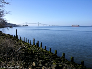 Image, 2005, Columbia River from Astoria, Oregon, click to enlarge