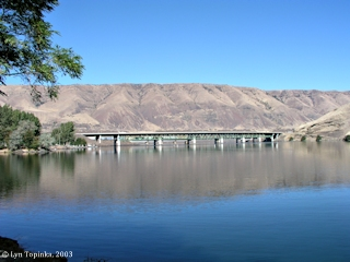 Image, 2003, John Day River looking towards the Columbia River, click to enlarge