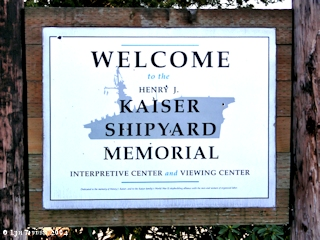 Image, 2004, Kaiser Shipyard Memorial sign, Ryan Point, Washington, click to enlarge