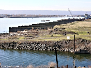 Image, 2004, Remains of the Kaiser Shipyards, Vancouver, Washington, click to enlarge