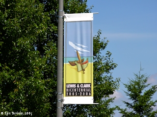 Image, 2005, Lewis and Clark Bicentennial Banner, click to enlarge