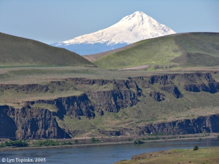 Image, 2005, Mount Hood as seen through Fairbanks Water Gap, Oregon, click to enlarge