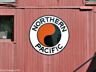 Image, 2005, Northern Pacific logo, click to enlarge