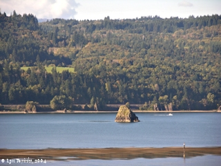 Image, 2004, Phoca Rock from Bridal Veil, Oregon, click to enlarge