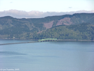 Image, 2005, Astoria-Megler Bridge, Washington side, from Coxcomb Hill, click to enlarge