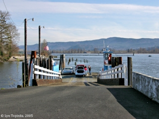 Image, 2005, Puget Island Ferry Dock, click to enlarge