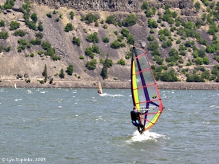 Image, 2005, Sailboarder, Mayer State Park, Oregon, click to enlarge