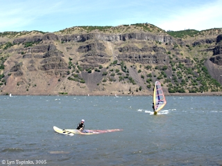 Image, 2005, Sailboarding, Mayer State Park, Oregon, click to enlarge