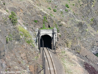 Image, 2005, Railroad Tunnel at Chamberlain Lake, click to enlarge