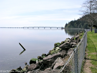 Image, 2004, Astoria-Megler Bridge and Point Ellice, Washington, click to enlarge