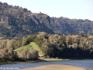 Image, 2004, Crown Point from Bridal Veil, Oregon, click to enlarge