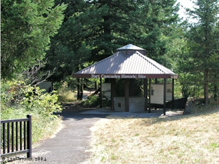 Image, 2004, Fort Cascades kiosk, click to enlarge