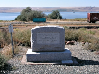 Image, 2004, Fort Nez Perce marker, Wallula, Washington, click to enlarge