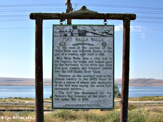 Image, 2004, Fort Walla Walla sign, Wallula, Washington, click to enlarge