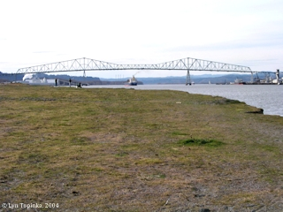 Image, 2004, Lewis and Clark Bridge, from Rainier City Park, Rainier, Oregon, click to enlarge
