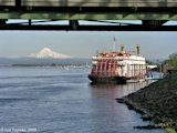 Image, 2004, Mount Hood and the Empress of the North cruise ship