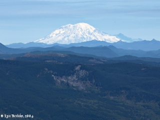 Image, 2004, Mount Rainier, Washington, from Larch Mountain, click to enlarge