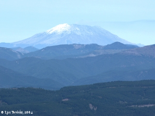 Image, 2004, Mount St. Helens, Washington, from Larch Mountain, click to enlarge
