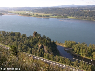 Image, 2004, Rooster Rock, Steigerwald Lake NWR, and Point Vancouver, from Crown Point, click to enlarge