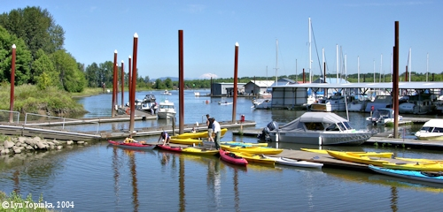 Image, 2004, Marina at Scappoose Bay, Oregon, click to enlarge