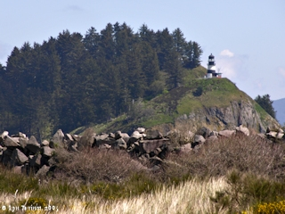 Image, 2005, Cape Disappointment Lighthouse from the North Jetty, click to enlarge
