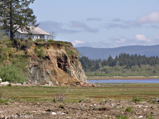 Image, 2005, House, Baker Bay, from Ilwaco, Washington, click to enlarge