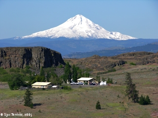 Image, 2005, Mount Hood from Horsethief Butte Overlook, click to enlarge