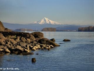 Image, 2005, Mount Hood from Fishers Landing, click to enlarge