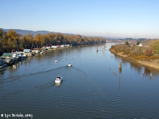 Image, 2005, Multnomah Channel from the Sauvie Island Bridge, click to enlarge
