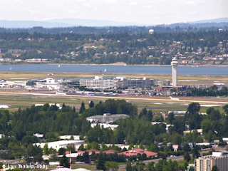 Image, 2005, Portland International Airport from Rocky Butte, click to enlarge