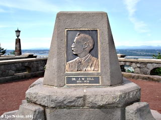 Image, 2005, J.W. Hill monument, Rocky Butte, Oregon, click to enlarge