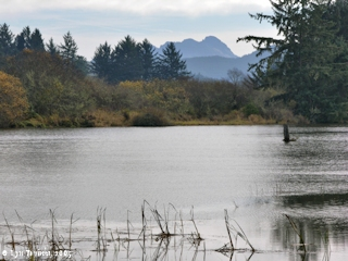 Image, 2005, Lewis and Clark River with Saddle Mountain, click to enlarge