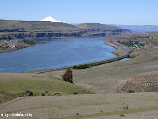 Image, 2005, Wishram, Washington, and Mount Hood, Oregon, click to enlarge