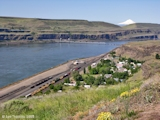 Image, 2005, Wishram, Washington, in the spring, with Mount Hood, Oregon