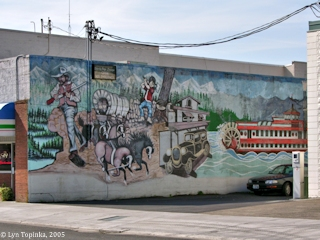 Image, 2005, Mural, Woodland, Washington, click to enlarge