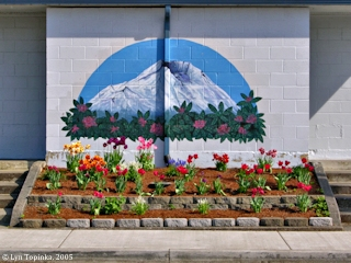 Image, 2005, Mount St. Helens mural, Woodland, Washington, click to enlarge