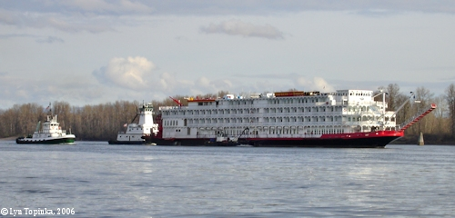 Image, 2006, Empress of the North, Columbia River, click to enlarge
