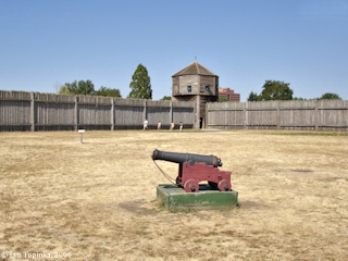 Image, 2006, Palisades and Bastion, Fort Vancouver, Washington, click to enlarge