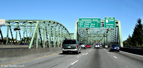 Image, 2006, Interstate-5 Bridge, Vancouver, Washington, click to enlarge