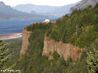 Image, 2006, Crown Point from Chanticleer Point, Oregon, click to enlarge