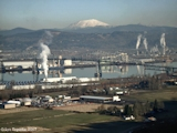 Image, 2007, Lewis and Clark Bridge, with Mount St. Helens